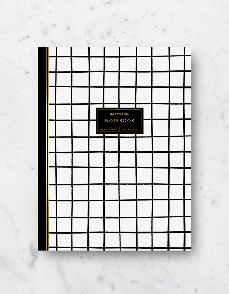 Grid pattern Lined notebook