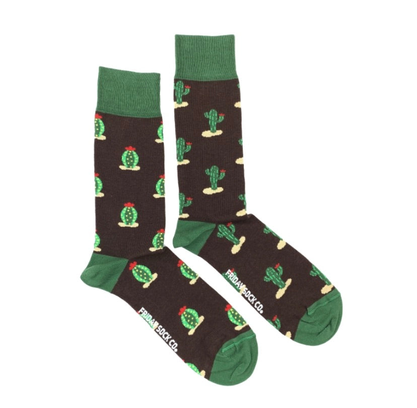 Friday Men's Socks Dueling Cacti - Friday socks - available from Majesty and Friends
