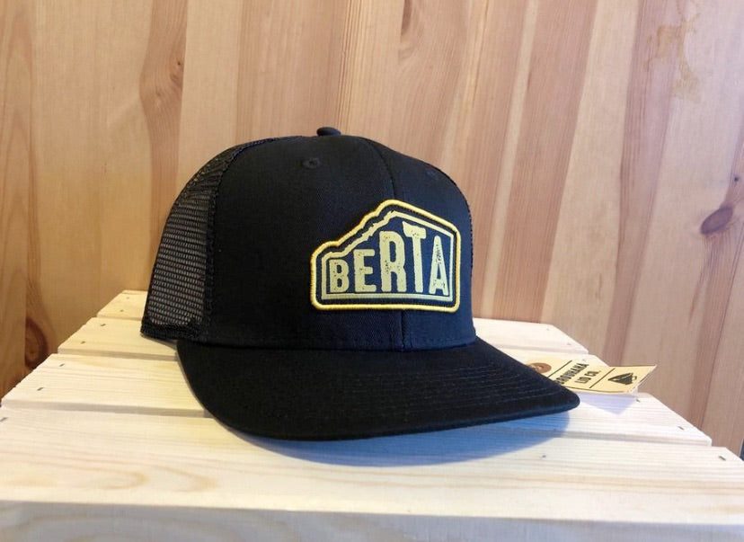 Berta hat in Black! - Brouhaha - available from Majesty and Friends