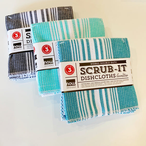 Scrub it Dishcloth in Teal - Now designs - available from Majesty and Friends