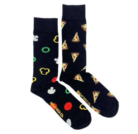 Friday Men's Socks Pizza And Toppings - Friday socks - available from Majesty and Friends