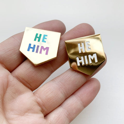 Pronoun Pin! He/Him