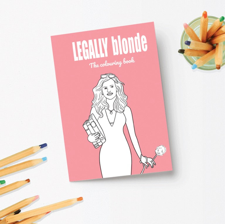 Legally Blond Colouring Book - Party Mountain - available from Majesty and Friends
