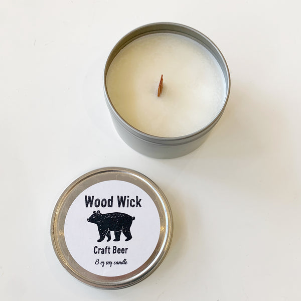 Wood Wick Candle Craft Beer - Majesty and Friends - available from Majesty and Friends