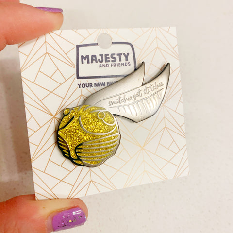 Golden Snitch Enamel Pin - Majesty and Friends - available from Majesty and Friends