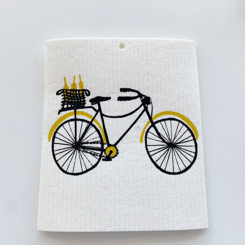 Swedish Dishcloth: Go for a Ride - Majesty and Friends - available from Majesty and Friends