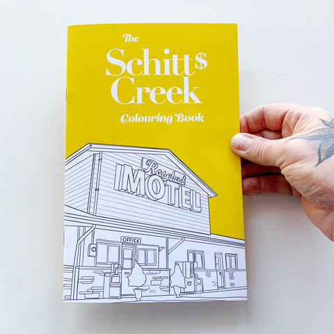 Schitts Creek Colouring Book - Party Mountain - available from Majesty and Friends
