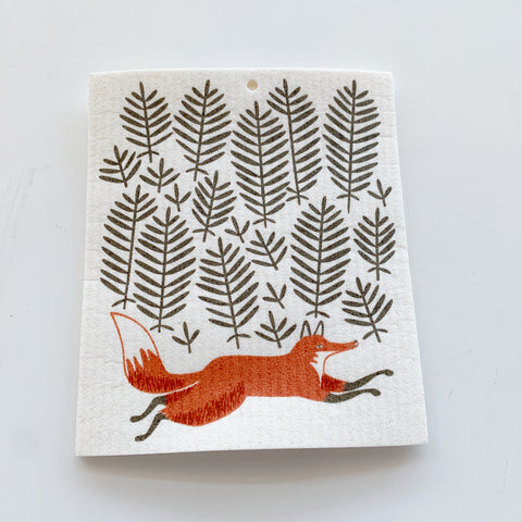 Swedish Dishcloth: Foxy Friend - Majesty and Friends - available from Majesty and Friends