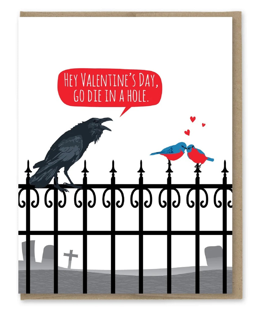 Card: Let's hate Valentine's Day!