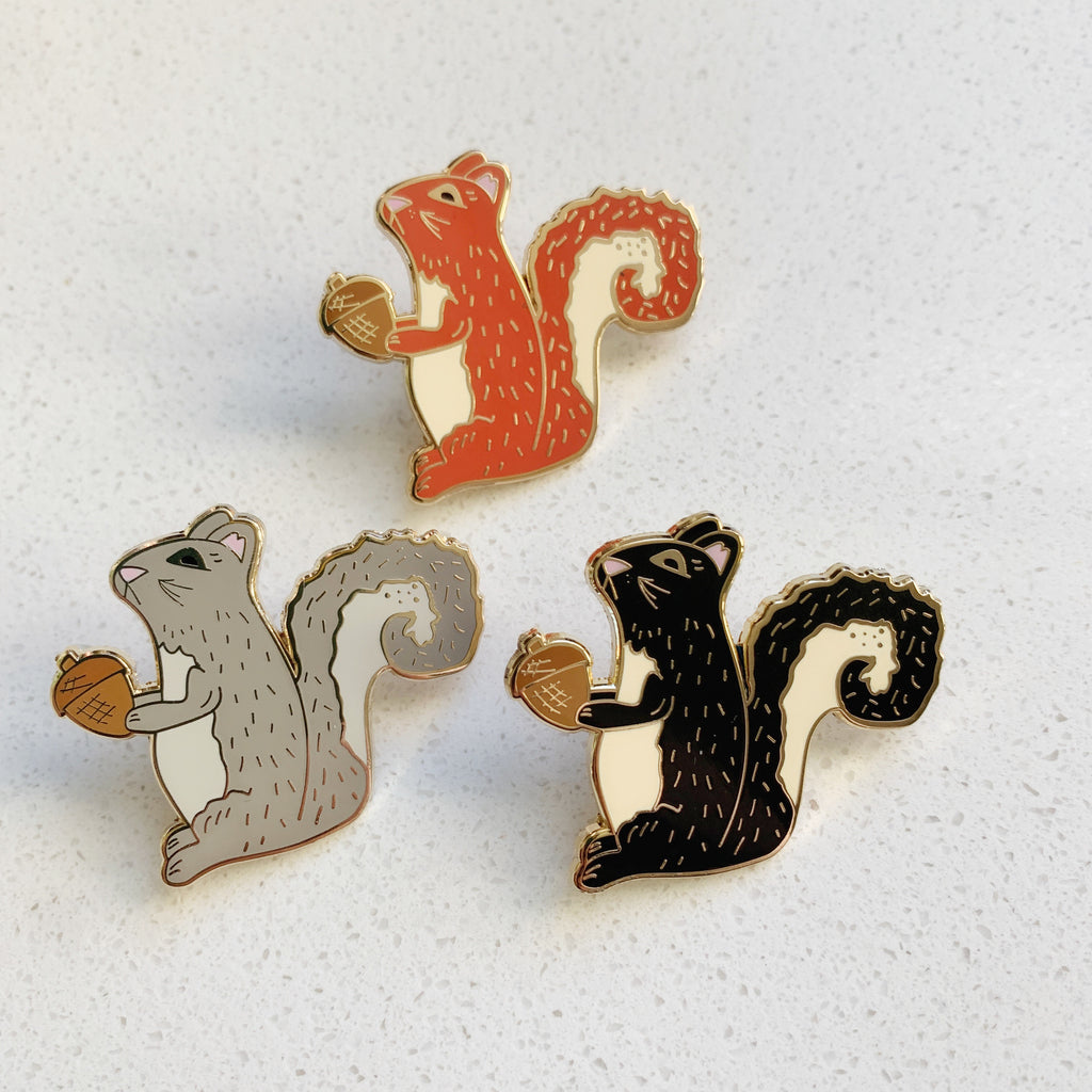 Squirrel Enamel Pin - Majesty and Friends - available from Majesty and Friends