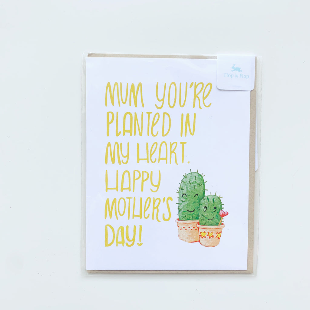 Card: Mothers Day You are planted in my heart - Majesty and Friends - available from Majesty and Friends