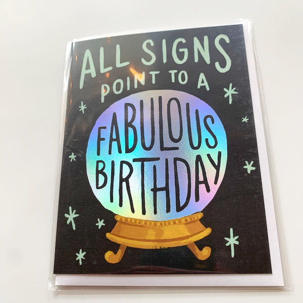 Card: Fabulous Birthday - Majesty and Friends - available from Majesty and Friends