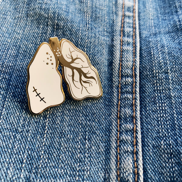 Lungs Enamel Pin - Majesty and Friends - available from Majesty and Friends