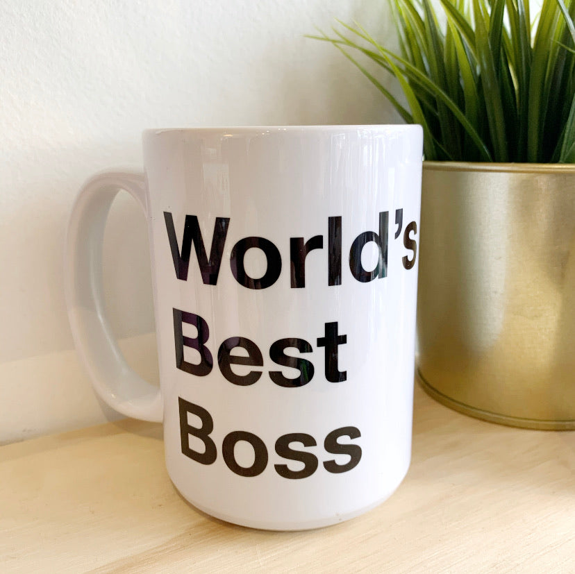 Worlds best boss mug