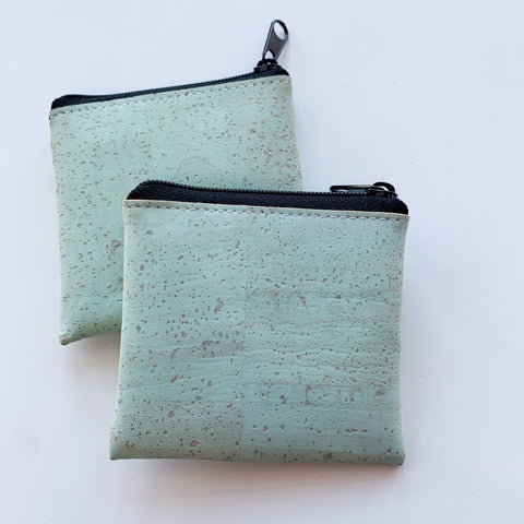Cork Pouch in Aqua - Majesty and Friends - available from Majesty and Friends