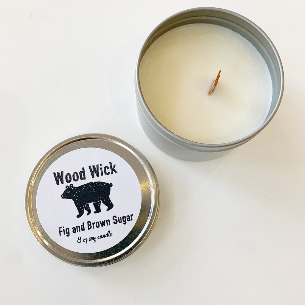Wood Wick Candle Fig and Brown Sugar - Majesty and Friends - available from Majesty and Friends