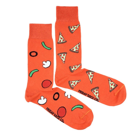 Friday Men's Socks Pizza - Friday socks - available from Majesty and Friends