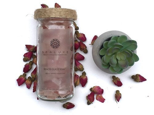 Sea Luxe Beach Glass Soap Rose - Sealuxe - available from Majesty and Friends