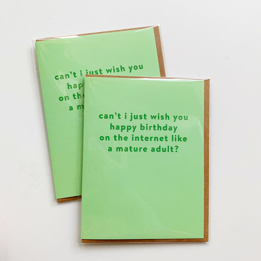 Card: Happy Internet Birthday - Majesty and Friends - available from Majesty and Friends
