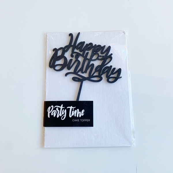 Cake topper Happy Birthday - Justine ma - available from Majesty and Friends