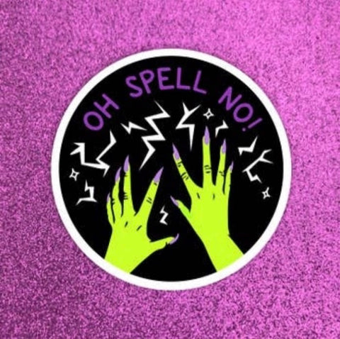 Oh Spell No! Sticker - Band of weirdos - available from Majesty and Friends