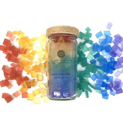 Sea Luxe Beach Glass Soap Rainbow - Sealuxe - available from Majesty and Friends