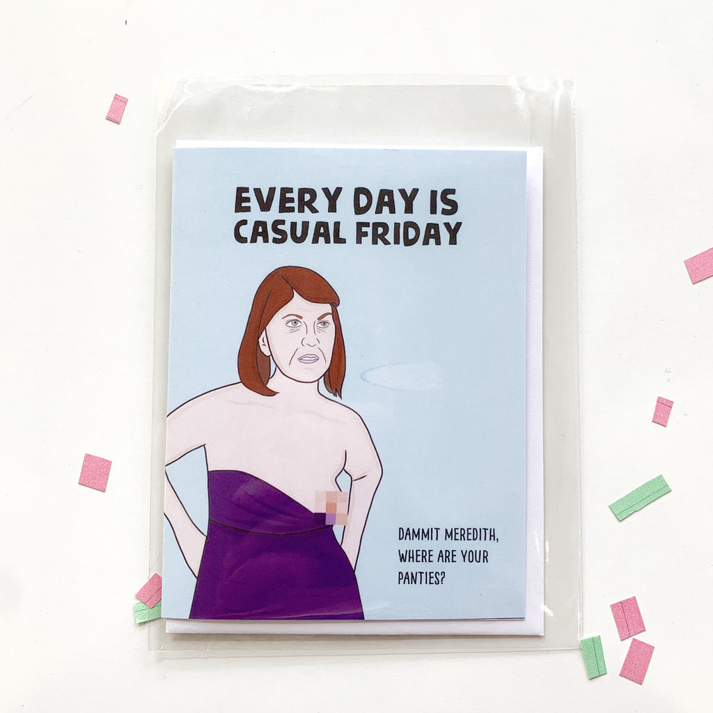 Card: Office! Every day is Casual Friday - Majesty and Friends - available from Majesty and Friends