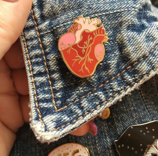 Anatomical Heart ♥️ Enamel Pin - Majesty and Friends - available from Majesty and Friends