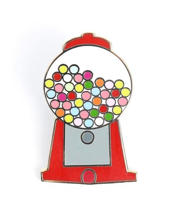 Gumball machine enamel pin!