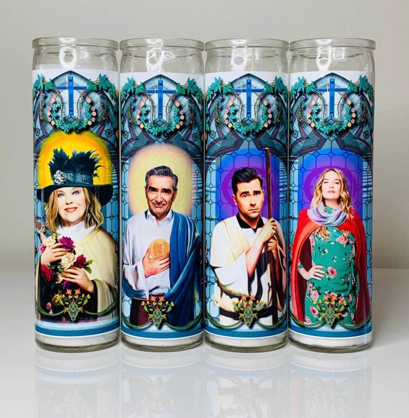 Schitts Creek Prayer Candle Set - Calm down Karen - available from Majesty and Friends