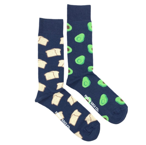 Friday Men's Socks Avocado and Toast - Friday socks - available from Majesty and Friends