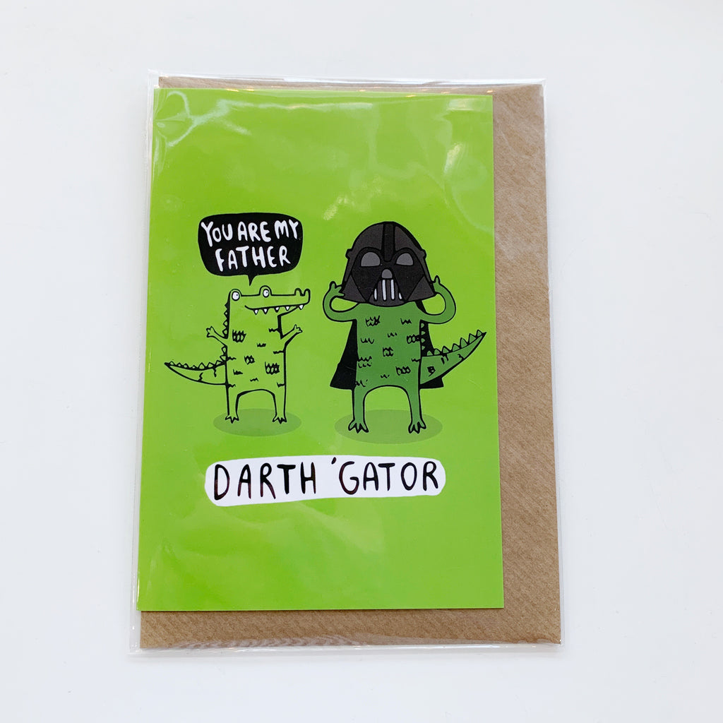 Card: Fathers Day, Darth Gator - Majesty and Friends - available from Majesty and Friends
