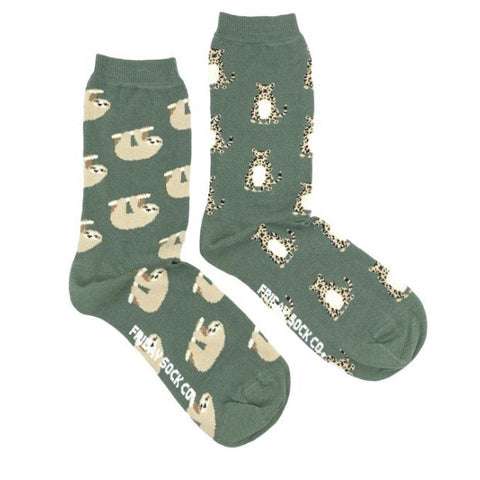 Friday Socks Sloths and cheetahs - Friday socks - available from Majesty and Friends