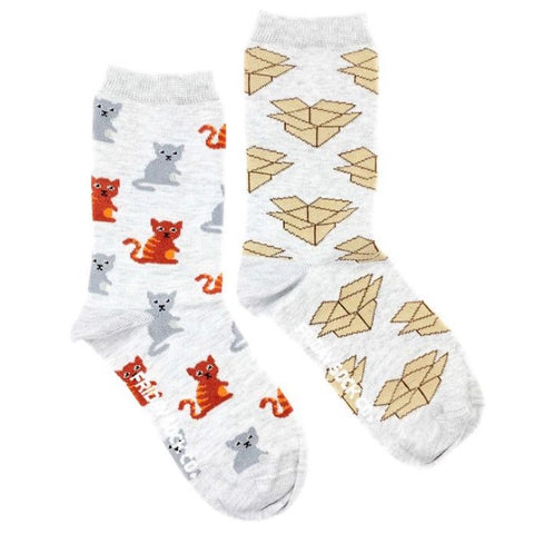 Friday Socks Cats And boxes - Friday socks - available from Majesty and Friends