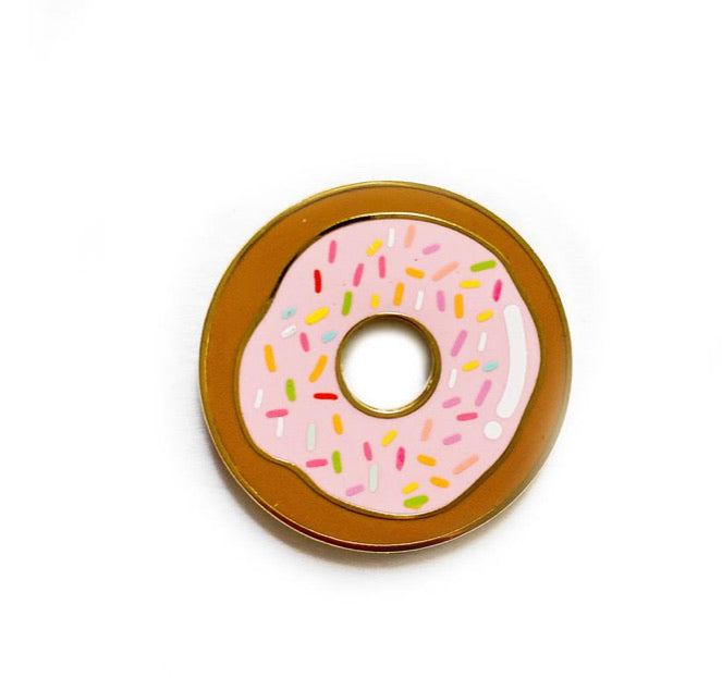 Go nuts for Donuts enamel pin!