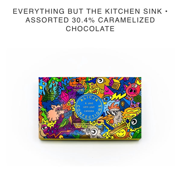 Everything But the Kitchen Sink Milk Chocolate Bar - Alicja confections - available from Majesty and Friends