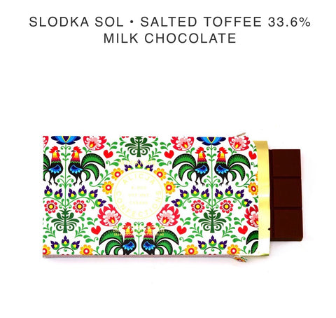 Slodka Sol Chocolate Bar - Alicja confections - available from Majesty and Friends