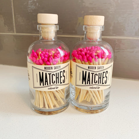 Apothecary Matches in Hot Pink - Majesty and Friends - available from Majesty and Friends