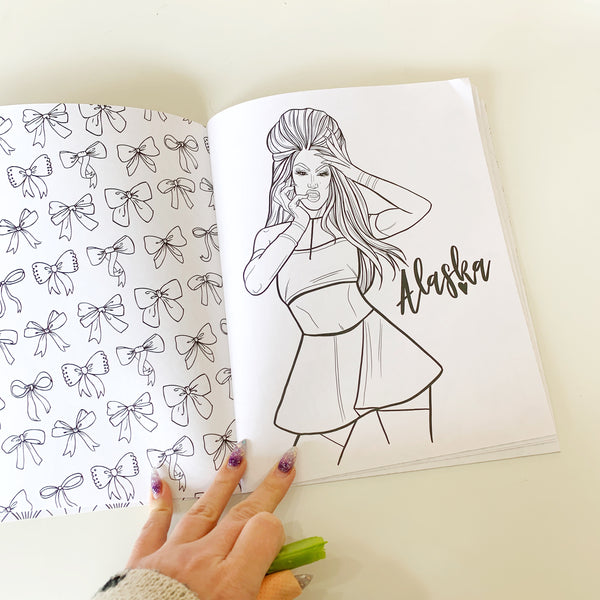 Shade: Drag Queen Colouring Book - Identigeek - available from Majesty and Friends