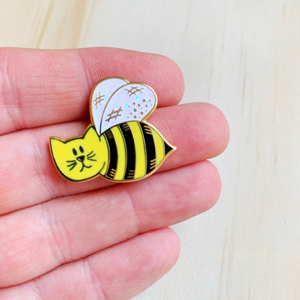Bumble Cat Enamel Pin - Majesty and Friends - available from Majesty and Friends