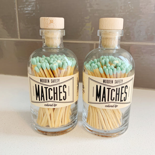 Apothecary Matches in Mint - Majesty and Friends - available from Majesty and Friends