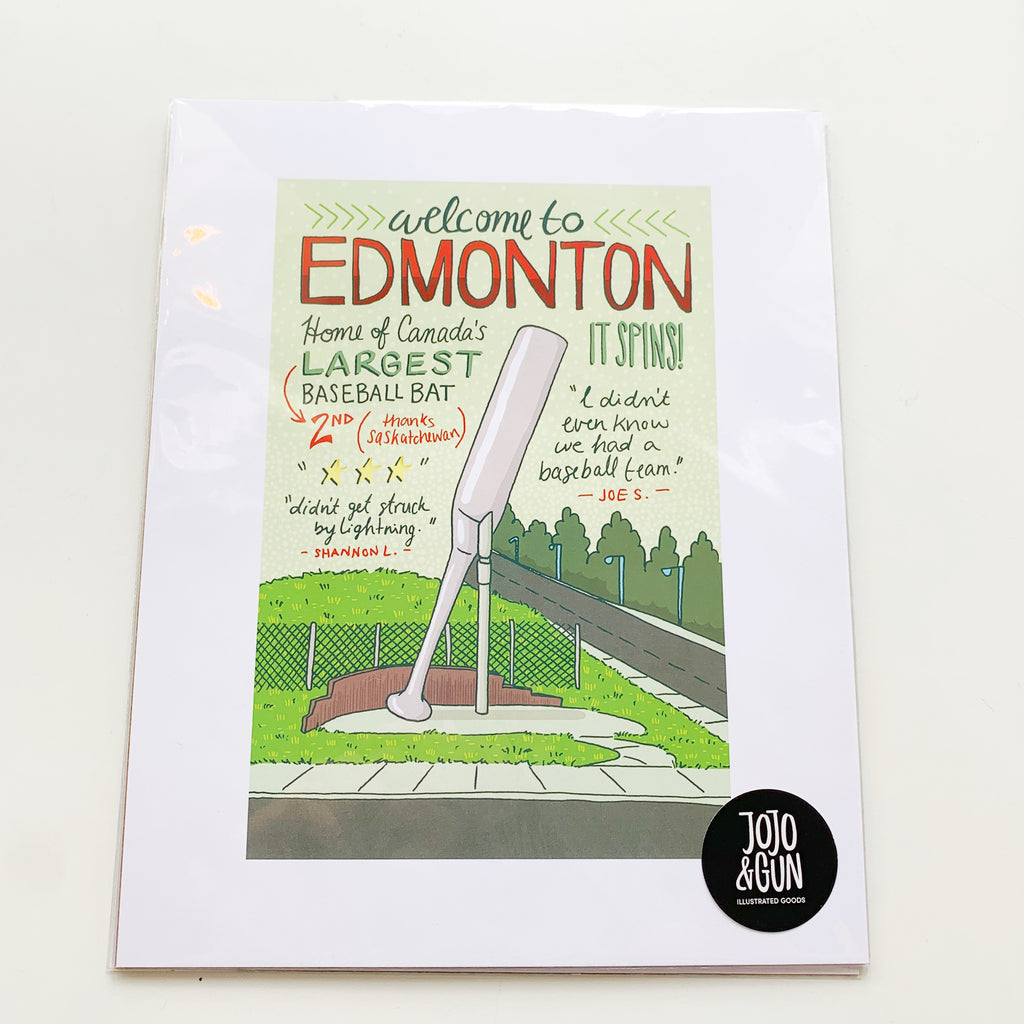 Edmonton Print - Jojo and gunn - available from Majesty and Friends
