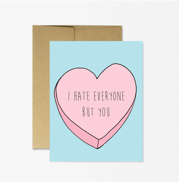 Card: I hate Everyone - Majesty and Friends - available from Majesty and Friends