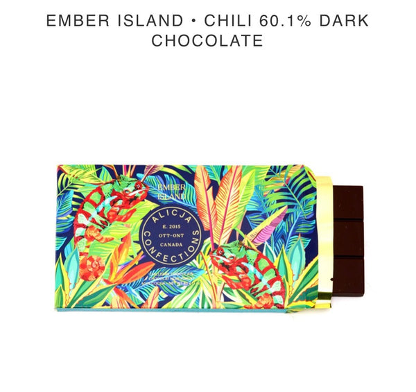 Ember Island Dark Chocolate Bar - Alicja confections - available from Majesty and Friends