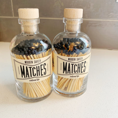 Apothecary Matches in black - Majesty and Friends - available from Majesty and Friends