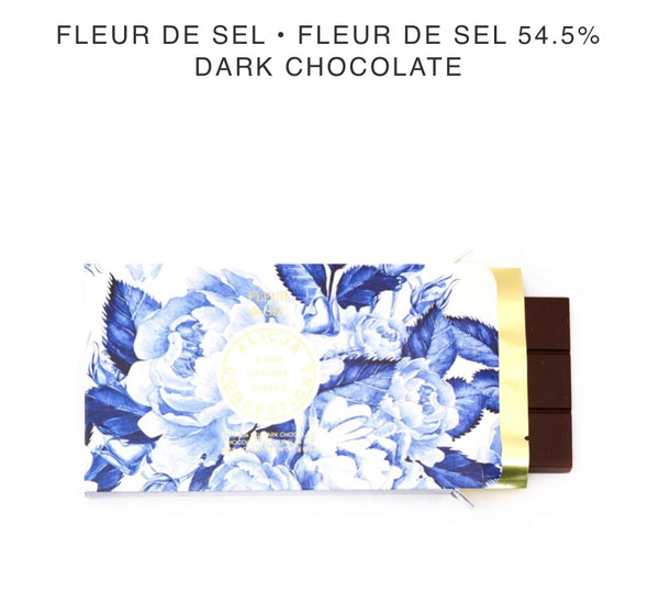 Fleur De Sel 54% Dark Chocolate - Alicja confections - available from Majesty and Friends