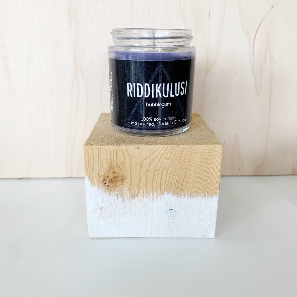 Riddikulus Candle 4 Oz pure soy - Majesty and Friends - available from Majesty and Friends