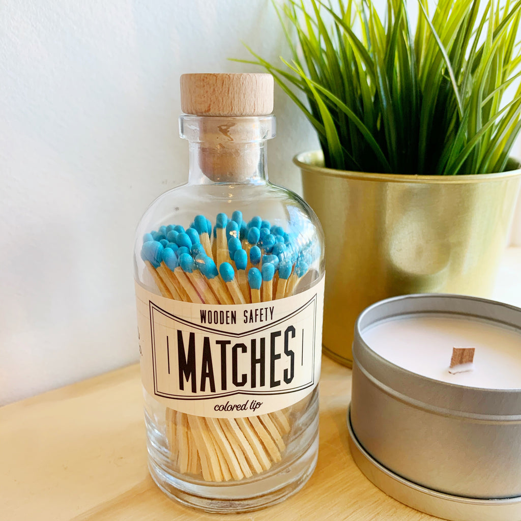 Apothecary Matches in Blue