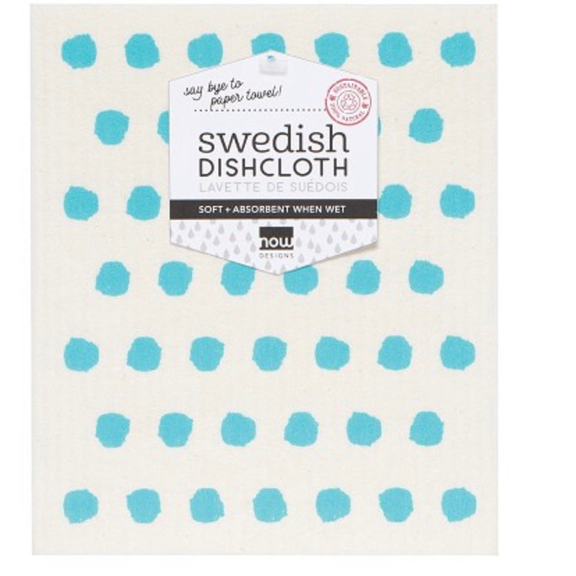 Swedish Dishcloth Blue Dots!