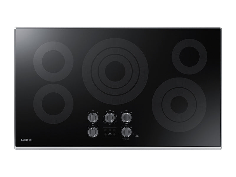 "36"" Samsung 5-Burner Smooth Top Electric Cooktop NZ36K6430RS"